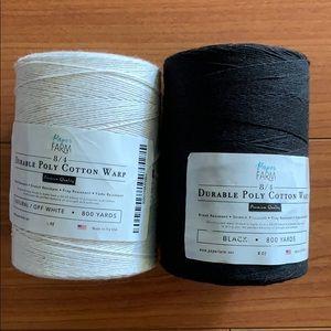 Paper Farm Durable Poly Cotton Warp Black Natural